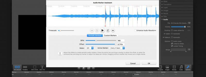 FotoMagico Screenshot Audiomarker
